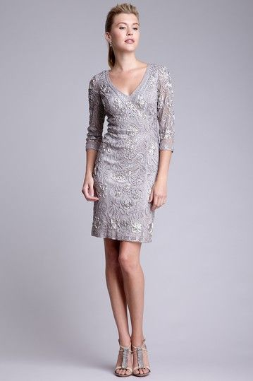 Sue Wong Gray Cocktail Dress