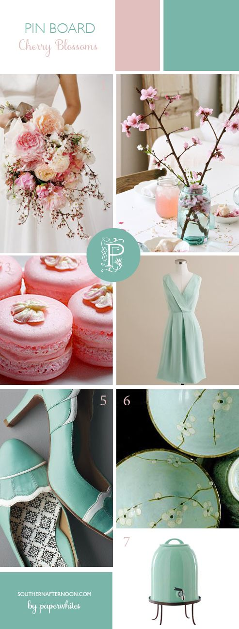 Cherry Blossom/Robins Egg wedding | cherry blossom wedding | pink and blue wedding | www.endorajewellery.etsy.com