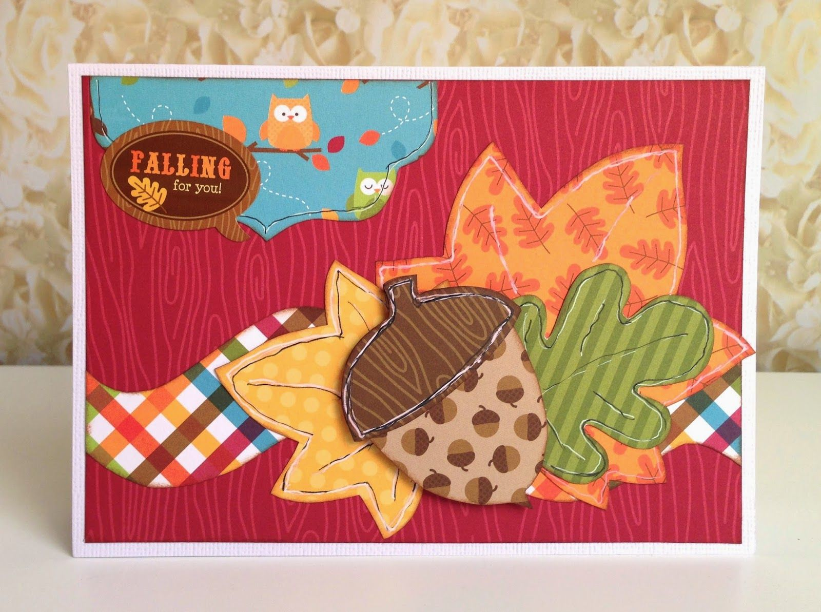Falling for you card by Gail Owens for Kiwi Lane using @kiwilane templates and Doodlebug Designs paper