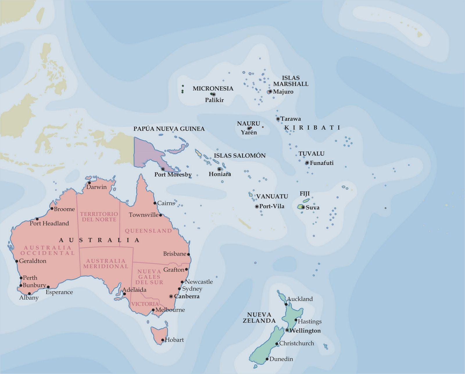 Ciencias Sociales Ies Emilio Manzano Mapa Politico De Oceania