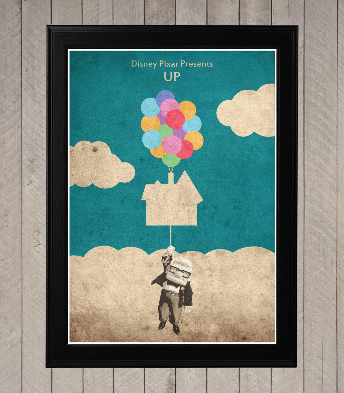 Up - Minimalist Disney Pixar movie poster, Minimalist Retro Poster ...