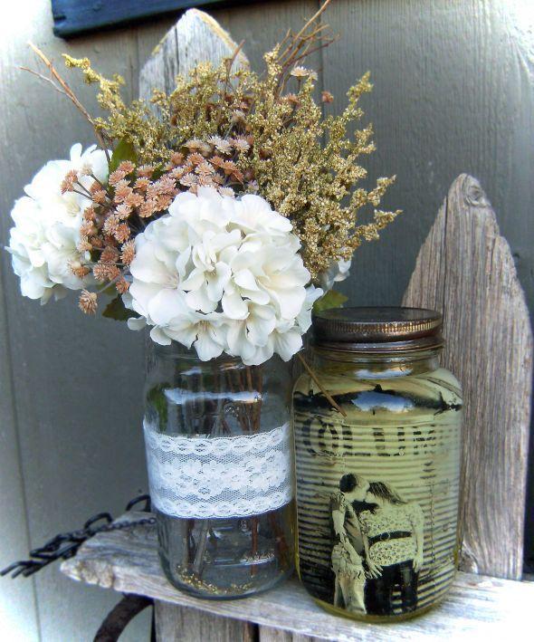 Wedding Decorations Using Mason Jars Mason Jar Centerpeices  Wedding Burlap Centerpeices Ideas Mason