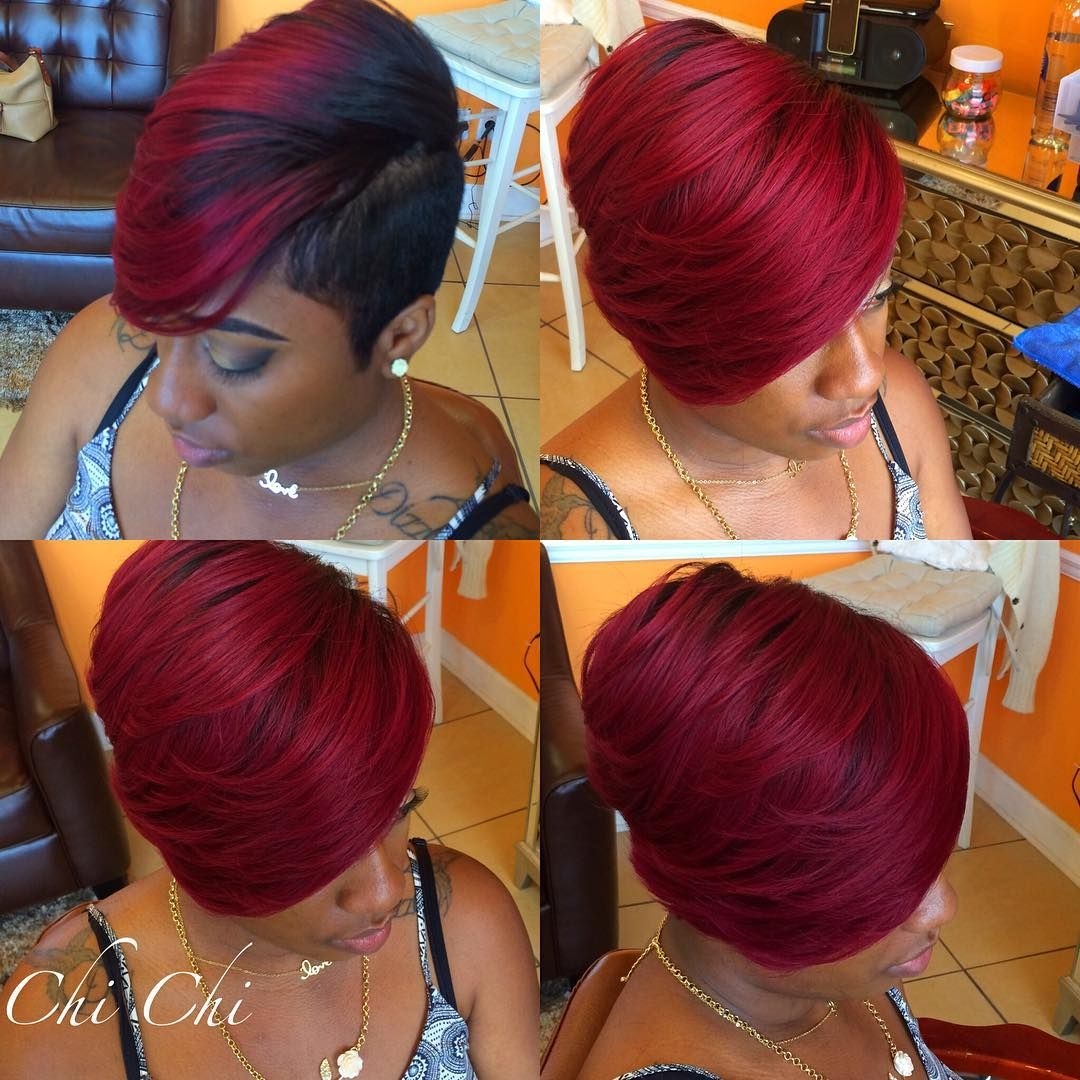Quick Weave Styled And Cut By Chi Chi Thrivehairsalon