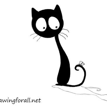 How To Draw A Butterfly Cat Pictures To Draw Simple Cat Drawing Cartoon Cat Drawing