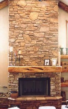cultured stone fireplaces stone fireplaces pinterest stone rh pinterest com cultured stone fireplaces gallery Natural Stone Fireplaces
