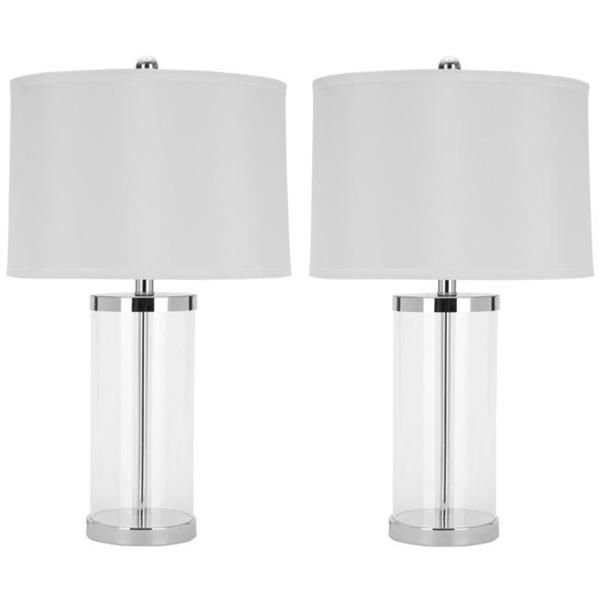 Safavieh Lighting 26 Inch Glass Exquisite Table Lamp Set Of 2