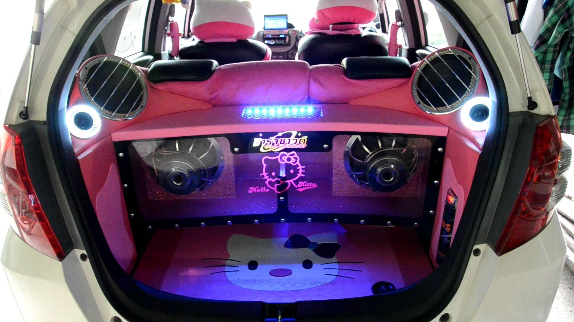Gambar Modifikasi Sound Sytem Mobil Honda Jazz Terbaru