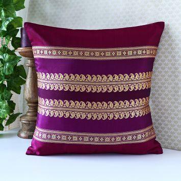 Pure silk Baluchari Cushion Cover