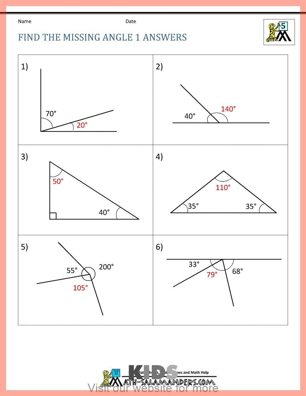 Work Energy And Power Worksheet Kids Activities Educational Craft For Kids Easy Easy Craf Angles Worksheet Finding Missing Angles Worksheet Geometry Worksheets