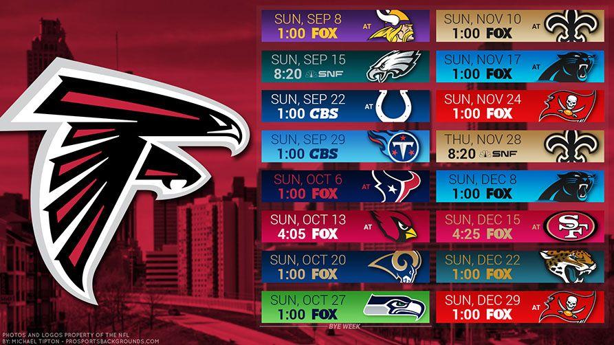 Atlanta Falcons 2019 Desktop PC City NFL Schedule