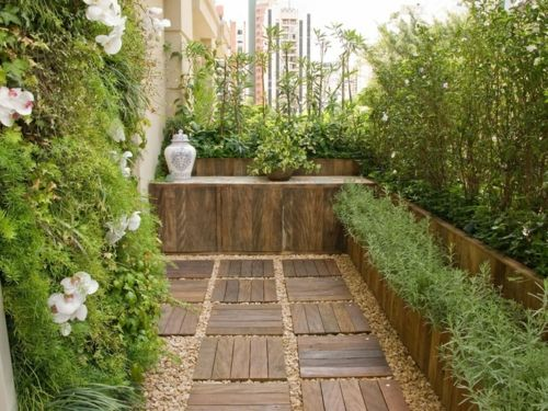 Balkon Feng Shui Stil Deko Geländer Gärten Wiesengrund   Terrassen  Sichtschutz Deko Varianten