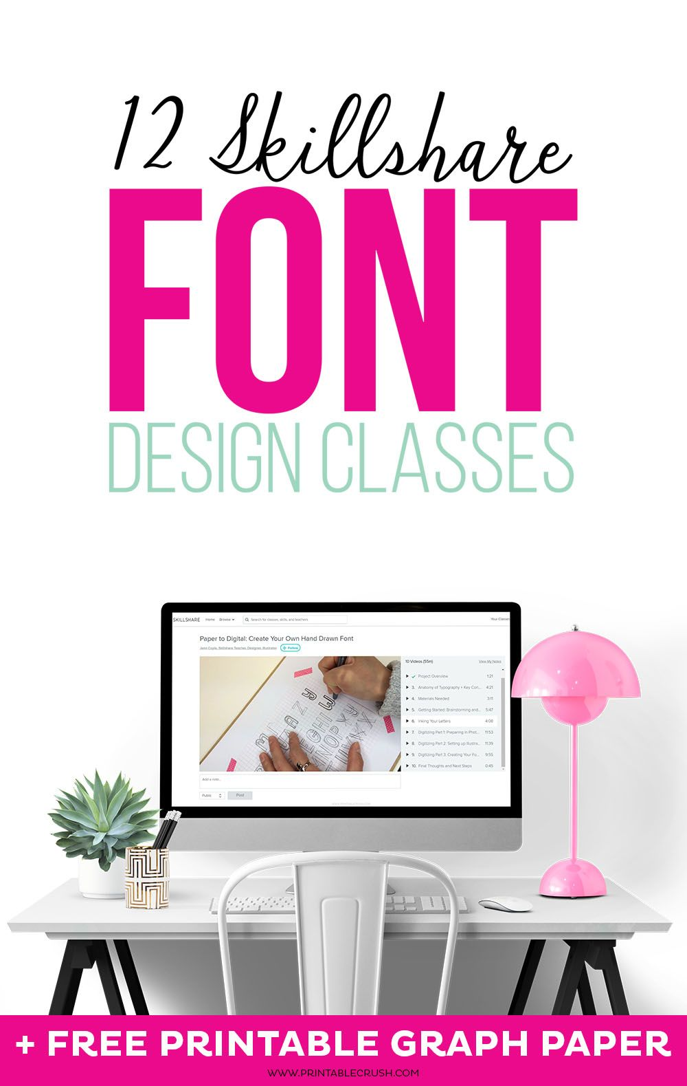 12 Skillshare Font Design Classes Graphic design