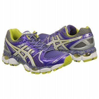 Athletics ASICS Women's GEL NIMBUS 14 LE Purple/Lime/Charcoal  FamousFootwear.com