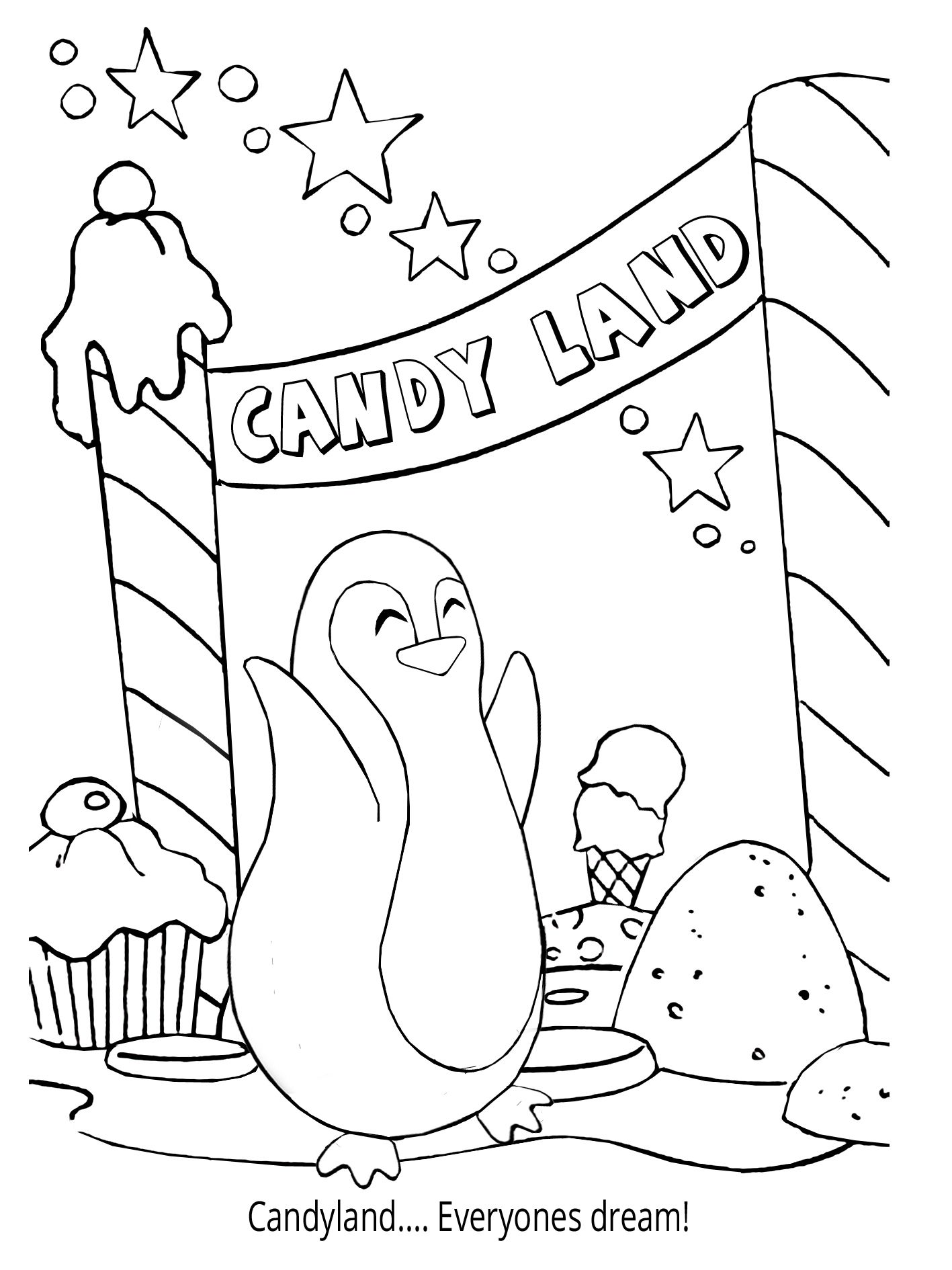 Penguin Coloring Book - Mr. Chil welcome you to Candyland! Join him ...