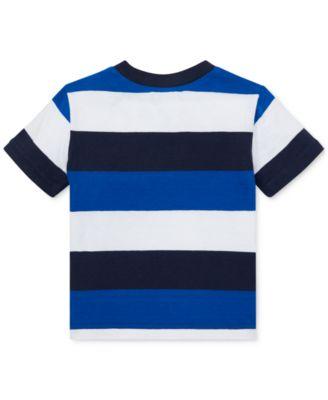 fb0734e7 Polo Ralph Lauren Baby Boys Striped Cotton Jersey T-Shirt in 2019 ...