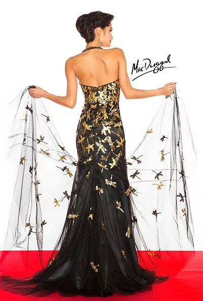 Alternate view of the MacDuggal Dragonfly Halter Mermaid Dress 85199R image