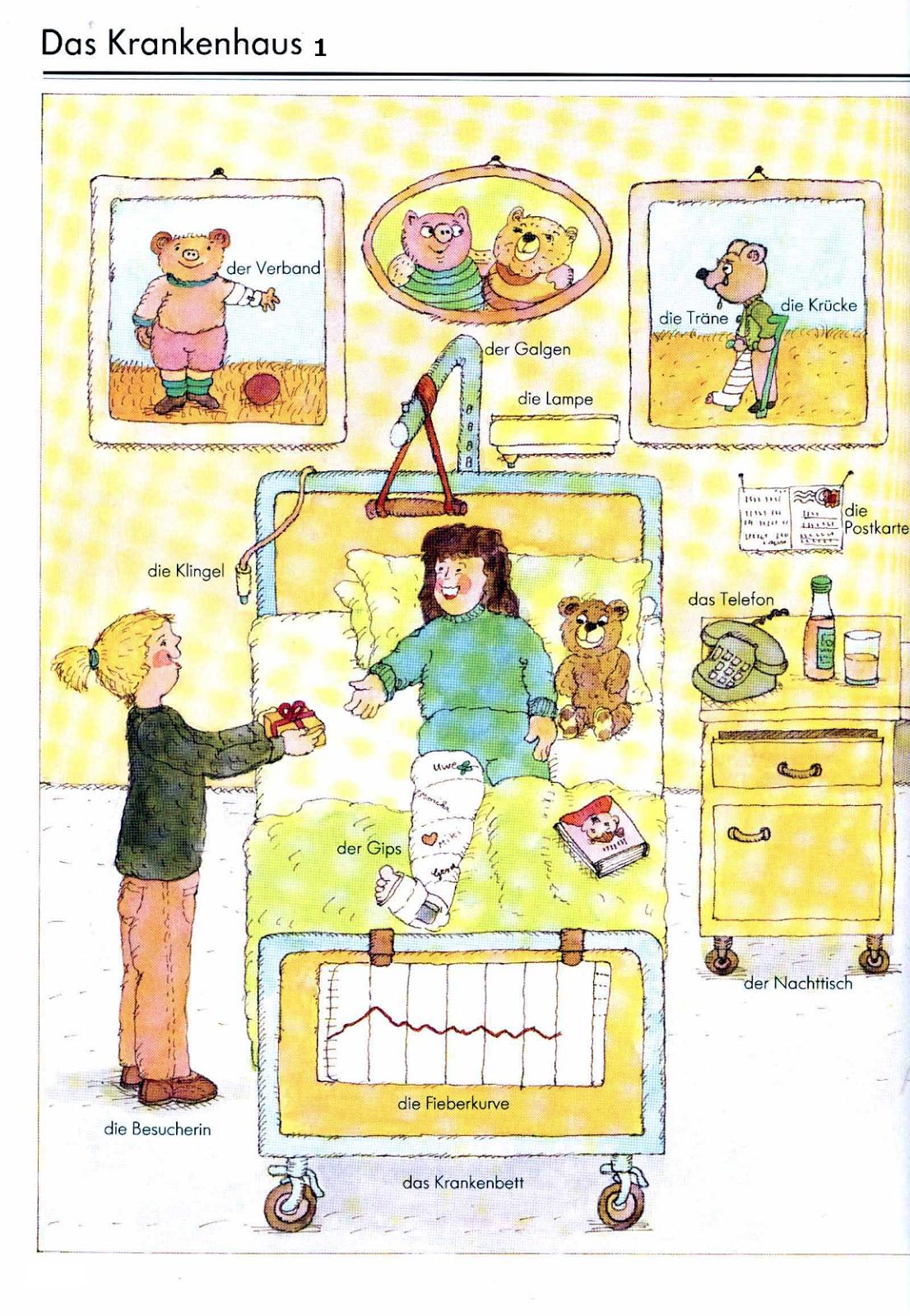das krankenhaus arbeit deutsch vokabeln deutsche sprache und deutsch wortschatz. Black Bedroom Furniture Sets. Home Design Ideas