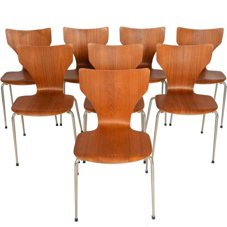 Set Of Eight 1stdibs Dining Room Chairs Stacking Dining Danish