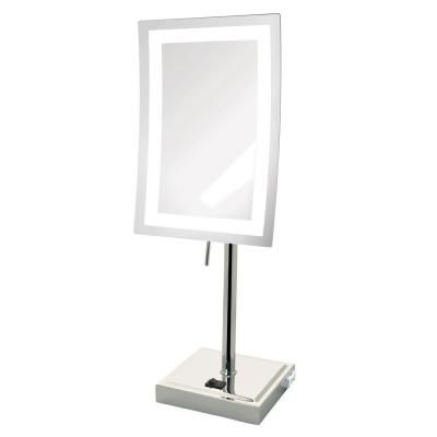 Jerdon 6.5 in. x 17 in. LED Lighted Table Makeup Mirror-JRT910CL - The Home Depot -   14 makeup Light table ideas