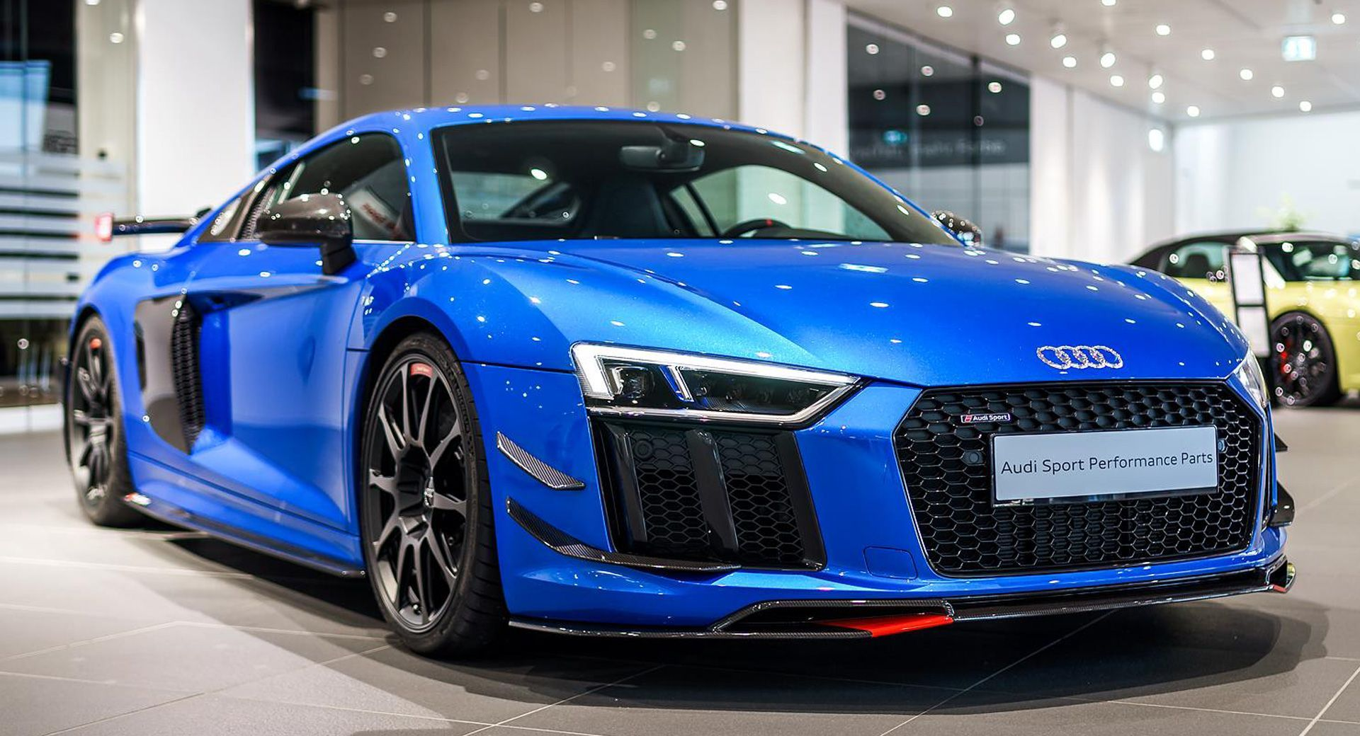 Audi R8 V10 Plus Looks Even Racier With Extra Performance Parts Carscoops Audi R8 V10 Plus Audi R8 V10 Audi R8