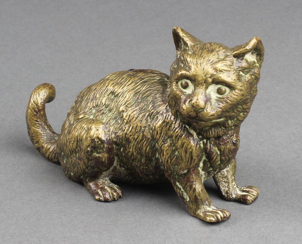 Lot 172, Geschutz, A Gilt Bronze Figure Of A Seated Cat 3