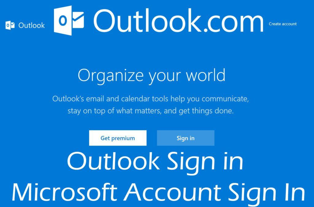 Outlook Sign in Microsoft Account Sign In Account sign