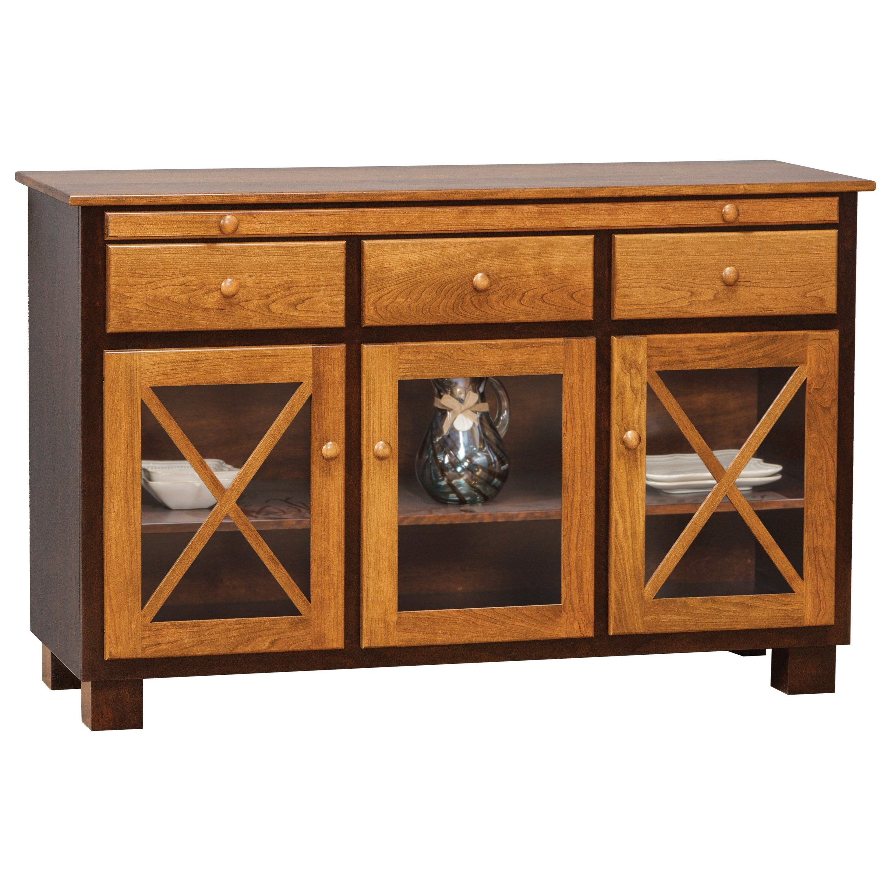 Dining Storage Millsdale Server With 3 Doors By Daniel S Amish In