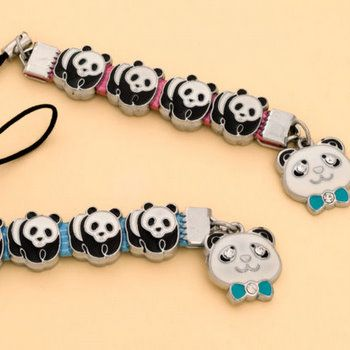 Metal Panda Cell Phone Accessory Never too much panda