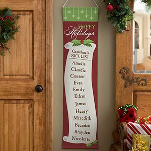 Christmas Nice List Personalized Door Banner Christmas Nice List Grinch Christmas Decorations Christmas Banners