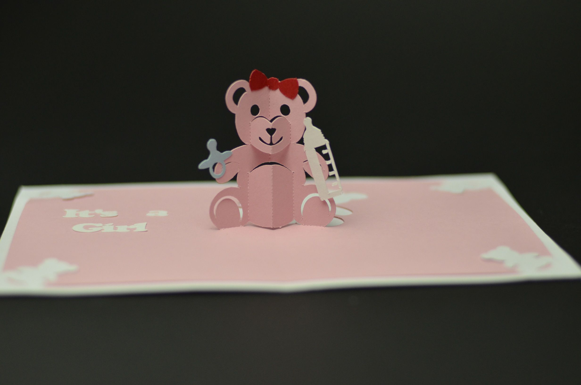 Teddy Bear Pop Up Card Tutorial And Template Creative Pop Inside Teddy Bear Pop Up Pop Up Card Templates Birthday Card Printable Birthday Card Template Free