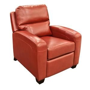 Nebraska Furniture Mart – Opulence Home Llc Red Bonded Leather Recliner