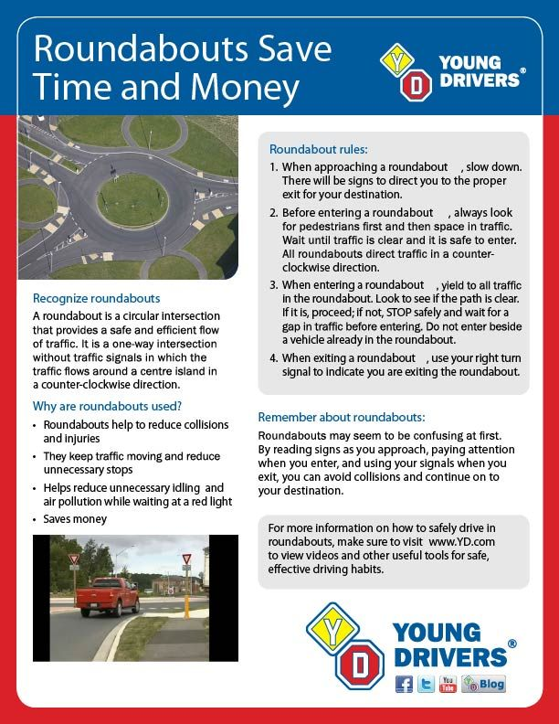 How to drive in a roundabout Roundabouts Info & tips