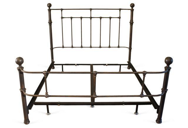 Etna Iron Bed Dark Brass One King S Lane Iron