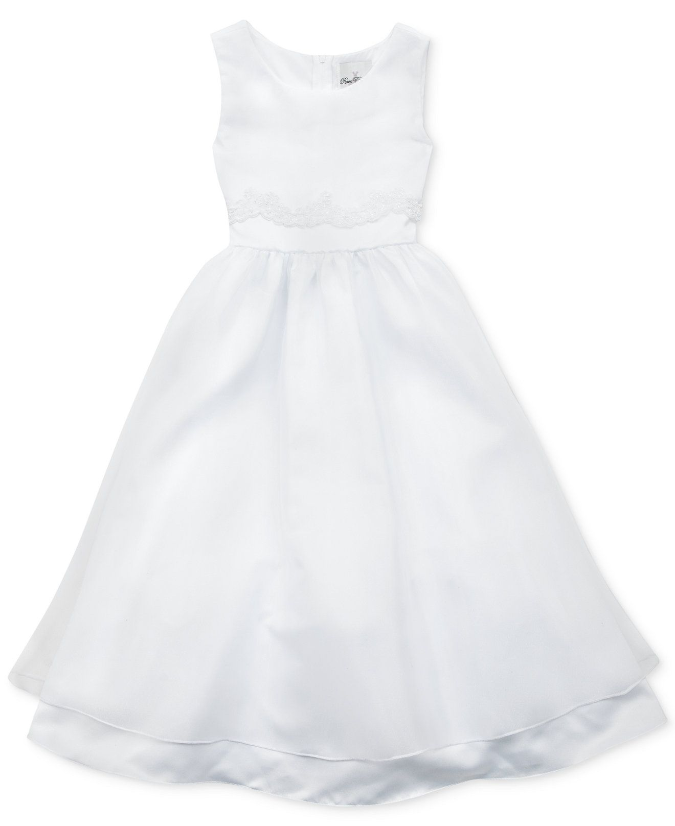 Rare Editions Girls' Lace Overlay Communion Dress - Kids Girls ...