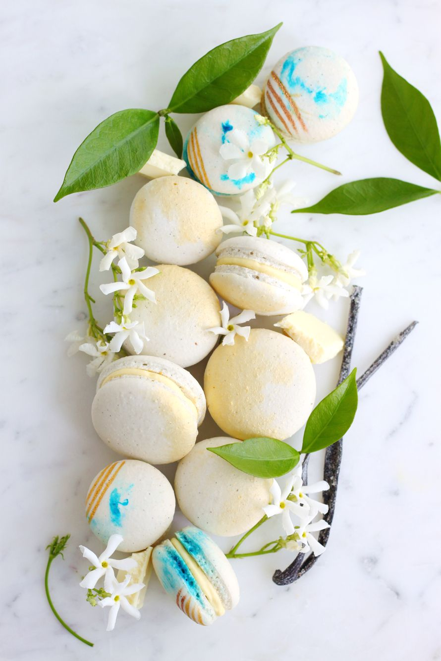 Eggless and Vegan Vanilla and Jasmine Macarons | K.O Rasoi | Sweet ...