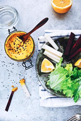 Houmous carottes / curry by Saveurs Végétales