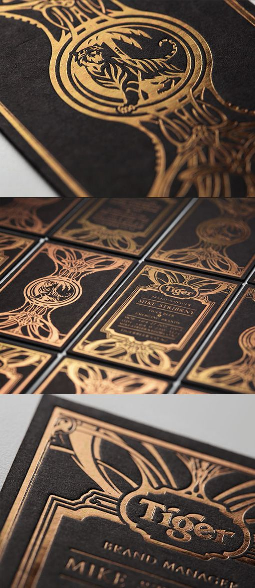 Intricate gold foil illustration on a matte black business card for intricate gold foil illustration on a matte black business card for a beer company reheart Choice Image
