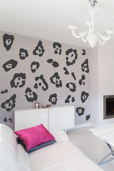 leopard print wall decal | my place of l i v i n g .. | pinterest