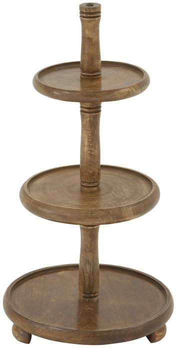 Bayden Hill Wood 3 Tier Tray 14 W 29 H Serving Tray Decor Tiered Stand Tiered Tray Stand