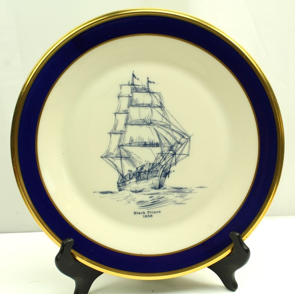 Lenox Special BLACK PRINCE 1856 Clipper Ship Blue & Gold ...