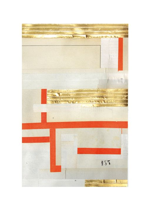 Numéro 155   Pied de page 7 Découpage de presse, aluminium doré - bombe de peinture aluminium