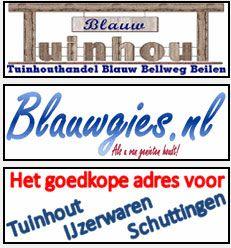 Wij heten Blauwgies.nl van harte welkom op Koopplein Midden-Drenthe. Blauwgies.nl is de webshop van Tuinhouthandel Blauw. Vanaf de Bellweg in Beilen bieden zij u een breed assortiment tuinhout, blokhutten, tuinmeubelen, ijzerwaren en overige tuin aanverwante artikelen aan. Nieuw bij hen is een ruime keuze aan wellness producten, van hottub tot dompelbad, van sauna tot jacuzzi. http://koopplein.nl/middendrenthe/bouw-en-tuin