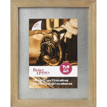 Better Homes And Gardens 7x9 Matted To 5x7 Galvanized Metal Mat Picture Frame Rustic Brown Rustic Cabin Decor Better Homes Galvanized Metal
