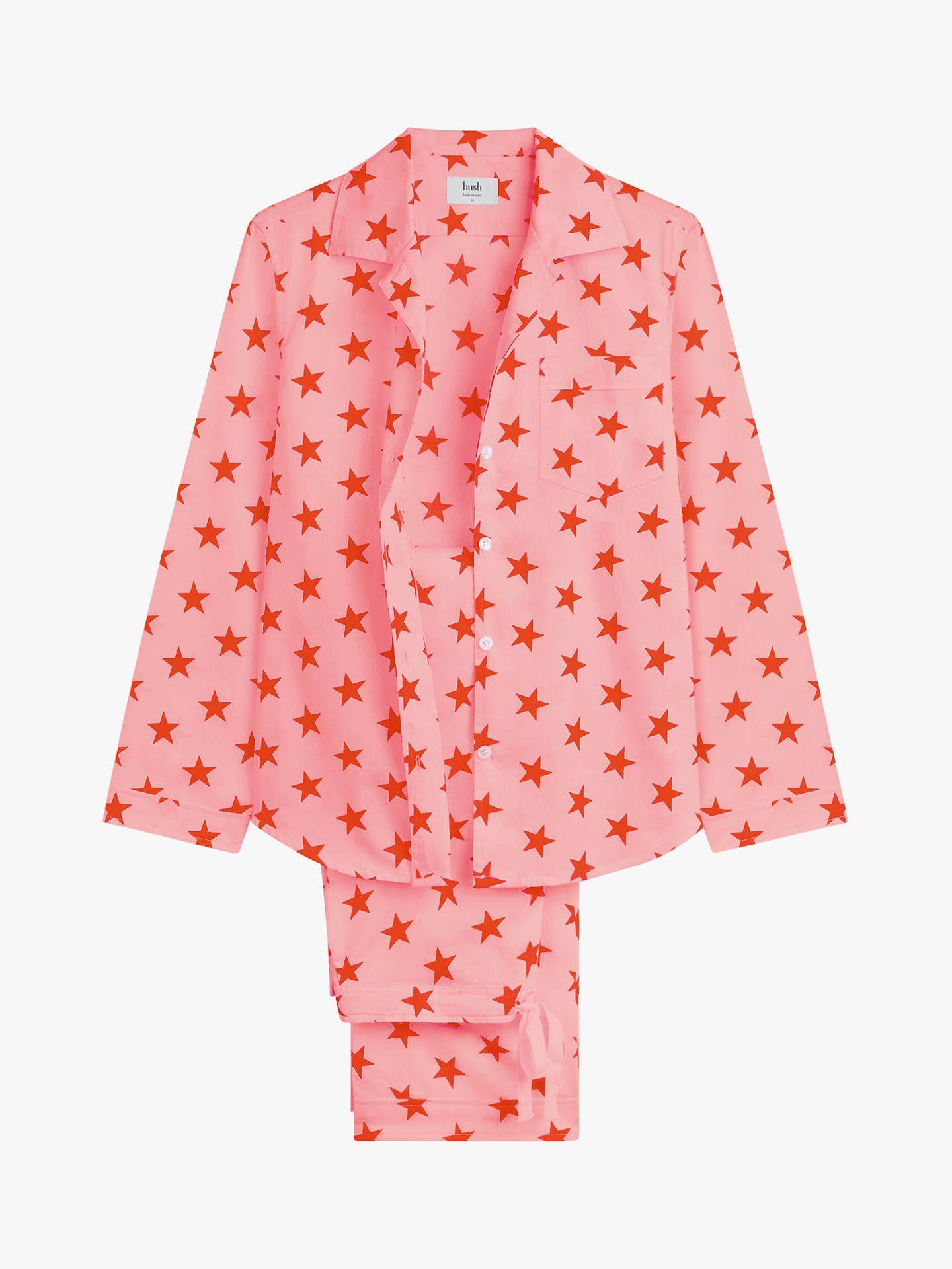 dd776f2a81 hush Star Piped Cotton Pyjama Set, Pink at John Lewis & Partners ...