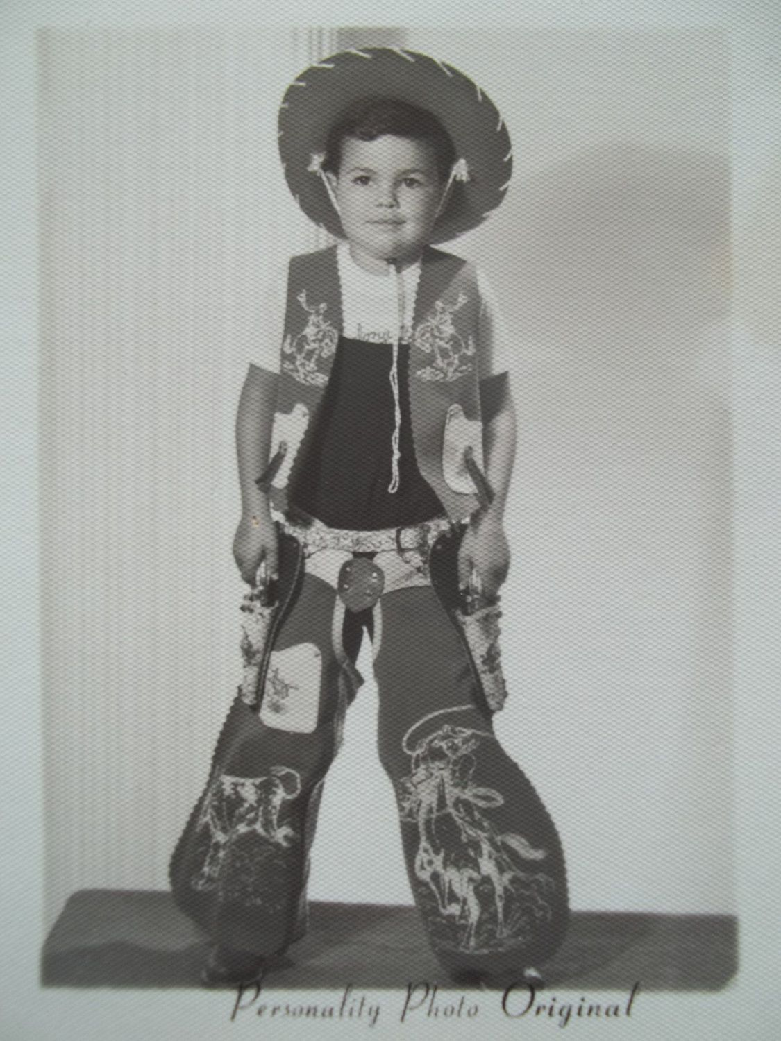 3da724565f8 1950 s Kid Cowboy My brother had one of these outfits.
