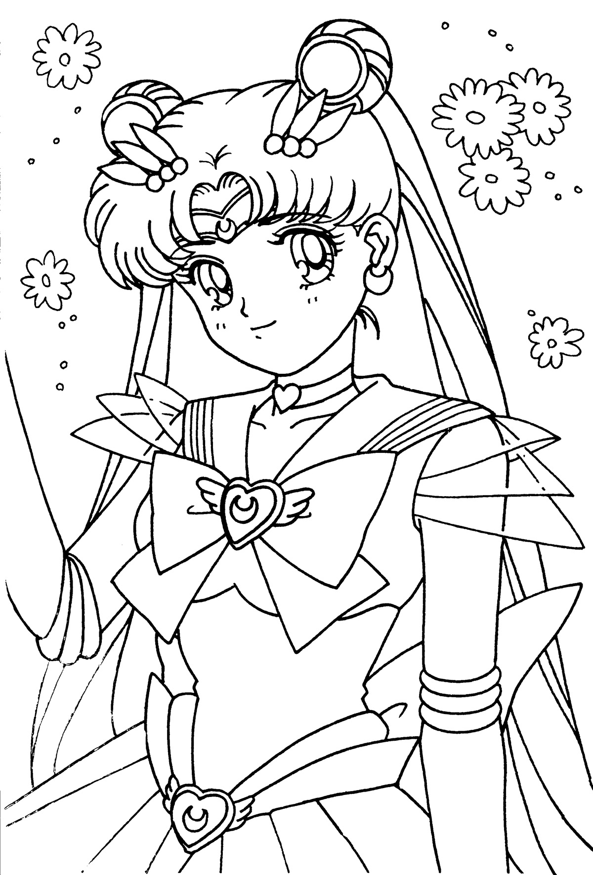 http://www.hollowmoon.net/sites/tsuki/ Sailor Moon Coloring pages ...
