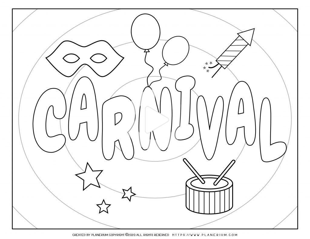 Carnival Coloring Pages And Worksheets Free Coloring Pages Coloring Pages For Kids Pattern Coloring Pages [ 791 x 1024 Pixel ]