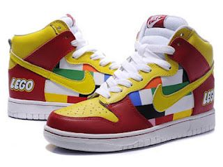 Multicolored Nike Lego Toy Dunks High Tops Cheap For Sale