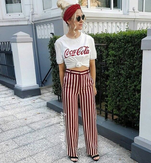 a025c5f3c49 ZARA NEW STRIPED TROUSERS PALAZZO RED MAROON CO-ORD BLOGGER BELTED SIZE XS-XL   Zara  OtherCasualTrousers