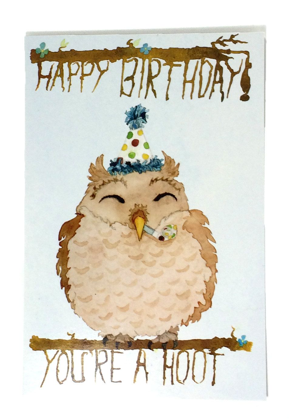 Youre A Hoot Happy Birthday Cards For Kids Animal Birthday Card